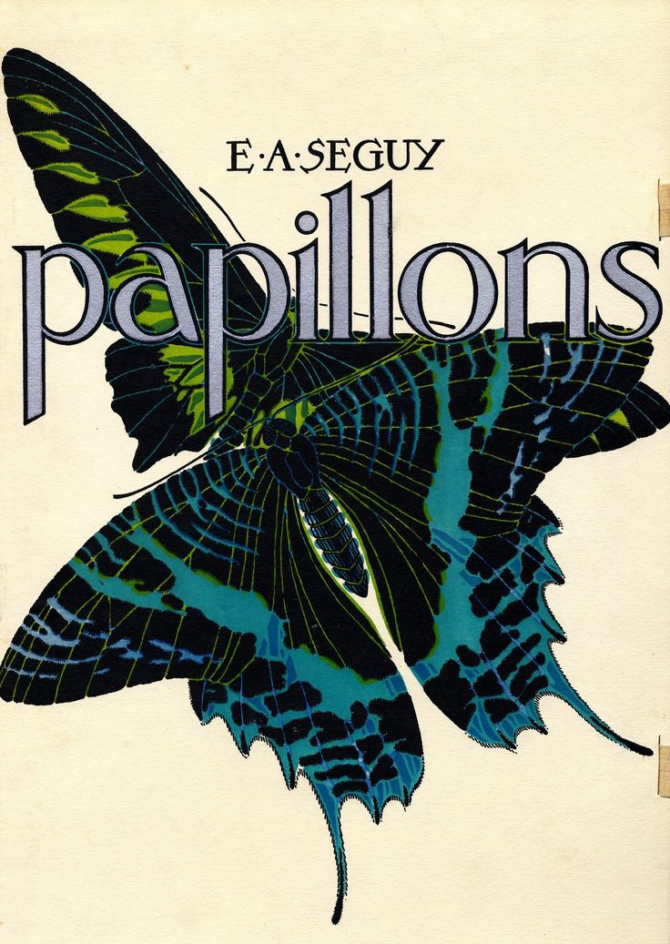 Papillons: Butterflies Folios, Set of 20 limited edition prints (1928). E A Séguy. Limited Edition Print, Pochoir. Eugène Séguy (French, 1890–1985) was a entomologist who specialised in Diptera and designer at the beginning of the 20th century. Working in both the Art Deco and Art Nouveau styles, he published many design folios utilizing the pochoir technique, a printing process that employs a series of stencils to lay dense and vivid color.
