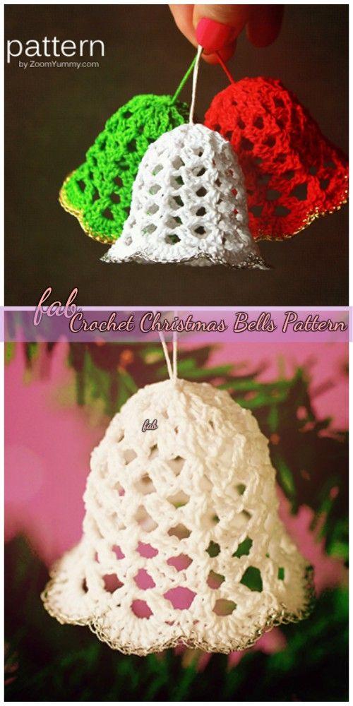 Crochet Christmas Bells Ornaments Free Patterns Video Crochet