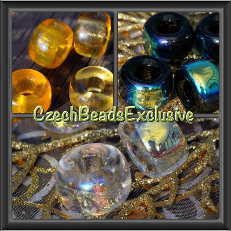 Absolutely beautiful large roller beads - put them on chain or bracelet and a great piece of jewelry is ready! :) www.CzechBeadsExclusive.etsy.com  #etsy #bead #glass #czechbead #jewelry #supply
