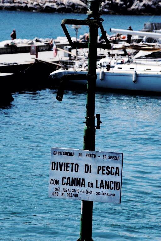 Fishing is forbidden here!  #italianplace #portovenere