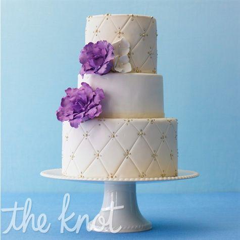 Purple Sugar Flower Cake