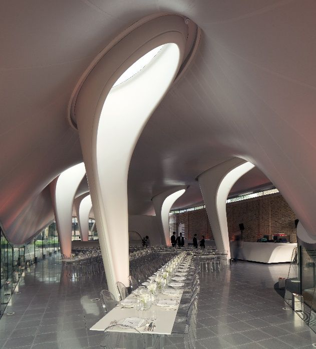 Zaha Hadid's Serpentine Sackler Gallery - Ugly extension but interesting light wells!