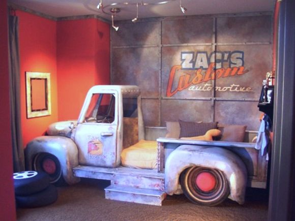 """Would Love a TRUCK """"BED"""" for the boys' room  Aaron_Christensens_Truck_Bed_Boys_Room"""