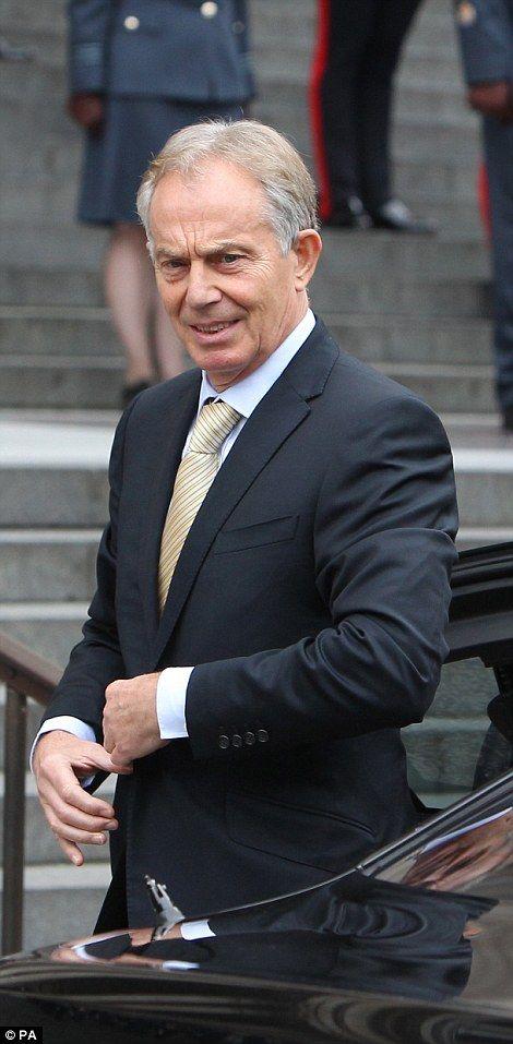 Former Prime Minister Tony Blair...