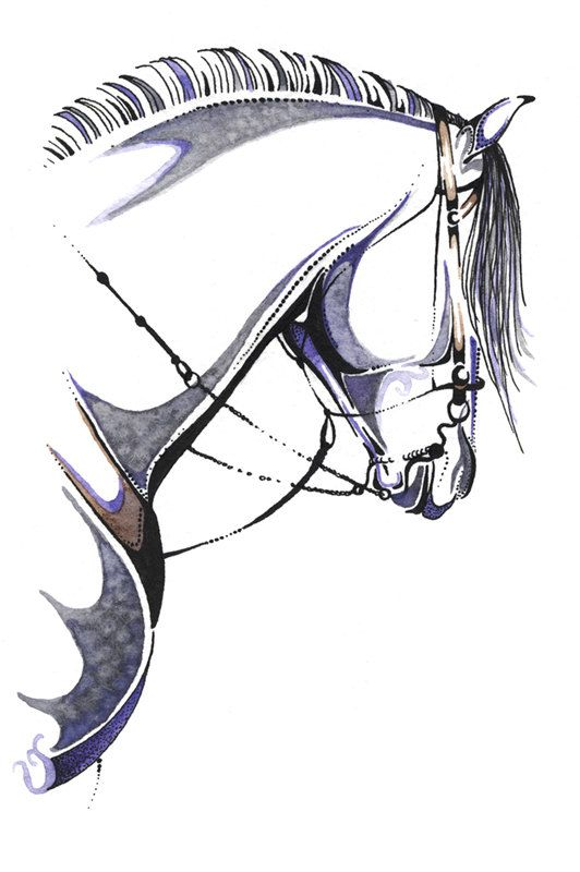 Horse Art Fuerte Open Edition Watercolor & Ink by DesignsbyDannie, $20.00