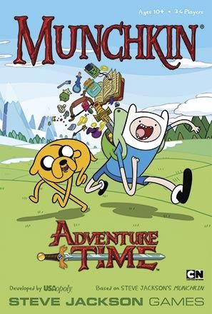 In Munchkin Adventure Time, players can help Finn, Jake, Lumpy Space Princess, and friends navigate the perils - and the rewards! - of the Land of Ooo. Will