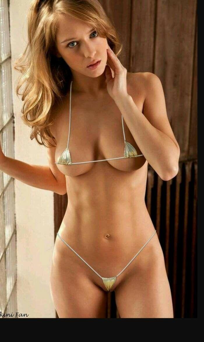 In lingerie skinny girl posing