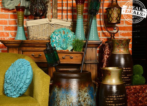 Green And Turquoise By Real Deals On Home Decor