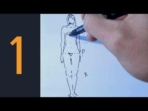 Antes de empezar a dibujar un cuerpo humano tenemos que aprender a hacer las distintas posiciones que puede adoptar el cuerpo, por ejemplo, saber las posicio...