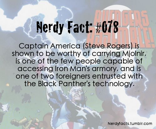 Nerdy Fact #078  Captain America has connections