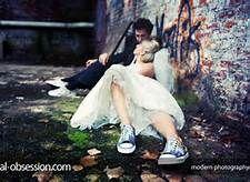 So cute couple trash the dress