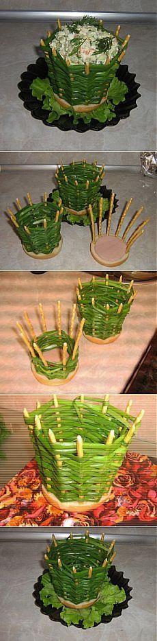 Луковая корзинка для салата