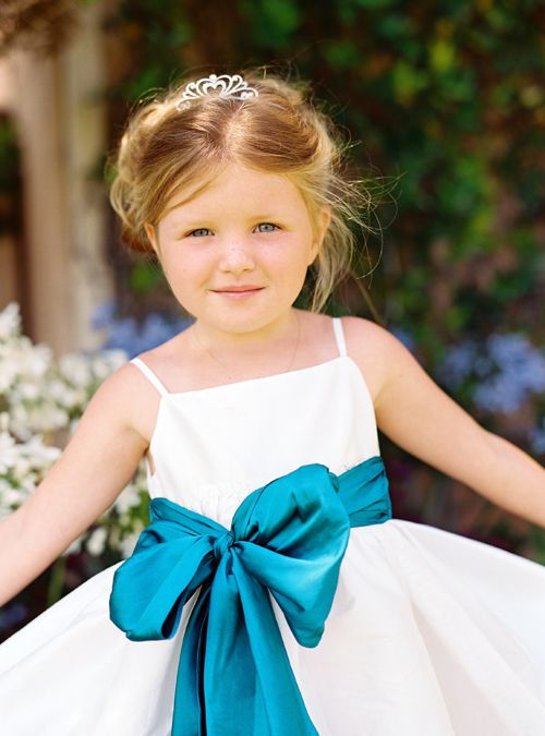 Girls In White Dresses With Blue Satin Sashes Quot My