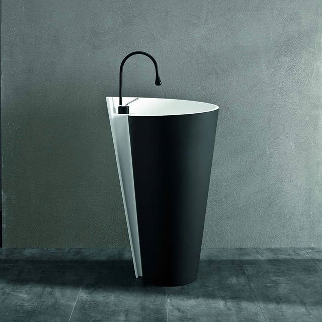 Its name was inspired the god of rain and wind of the Inca mithology: here's #Kon freestanding basin!  #MastellaDesign #designbath #bathdesign #basin #washbasin #freestanding #design #interiors #interiordesign #spa #homedecor