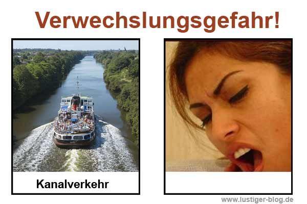 Verwechslungsgefahr: Kanalverkehr