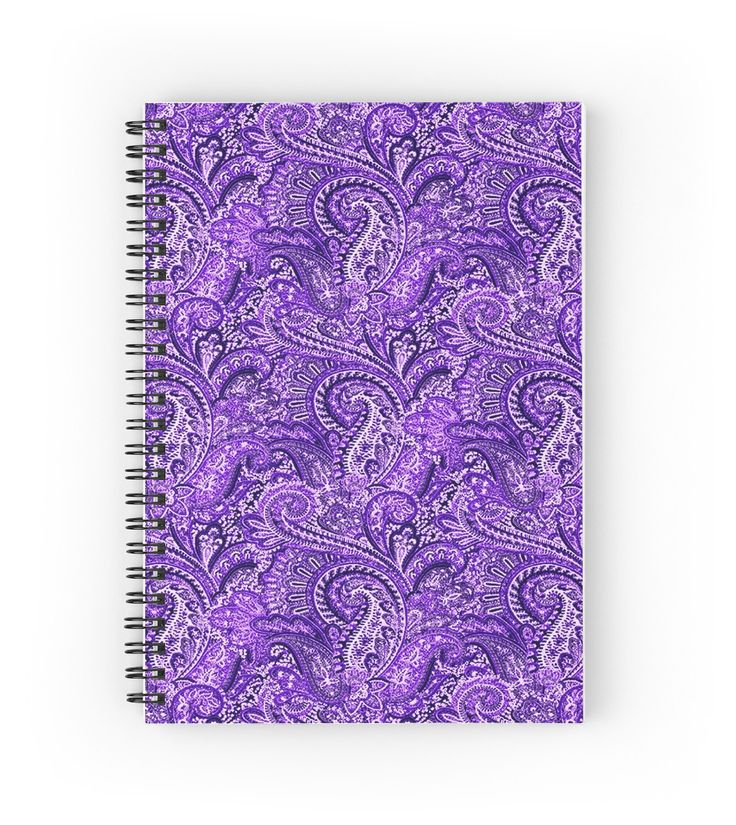 Classic Purple Paisley | Hardcover journals also available in ruled line, graph, or blank.