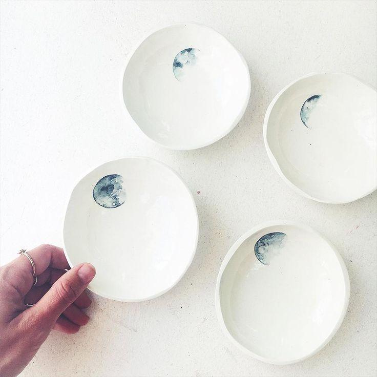 Lunar trinket bowls // Amy Keevy  #moons #lunarlove #lunarceramics
