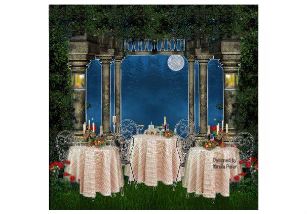 Cena in giardino by mirellaparer | Olioboard