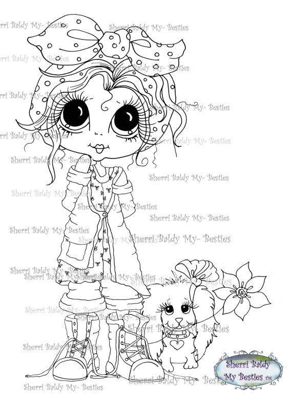 INSTANT DOWNLOAD Digital Digi Stamps Big Eye Big by SherriBaldy, $2.00