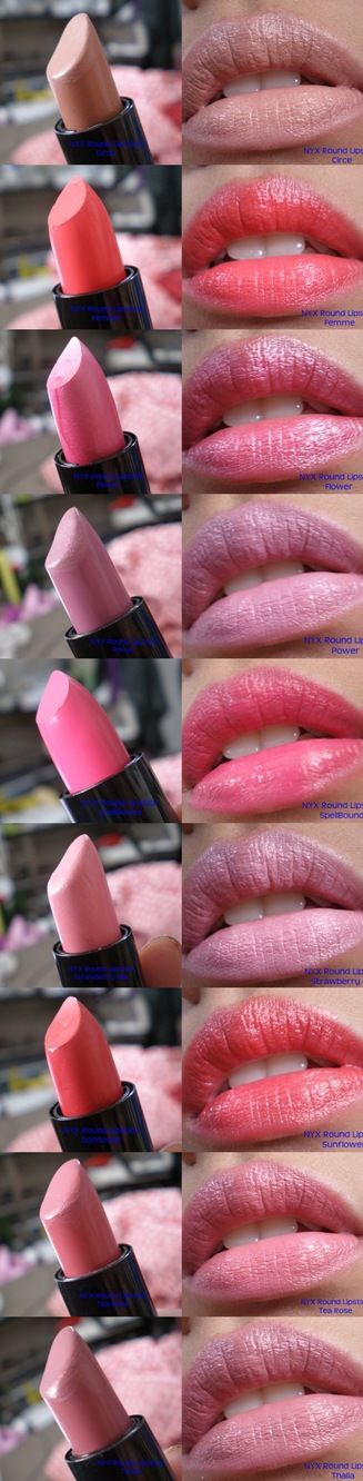 Swatch: NYX Round Lipstick in my stock | LUUUX