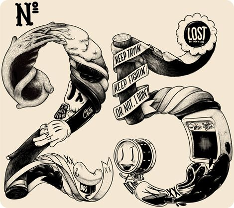 McBess type: Numbers, Illustrations, Street Art, Graphics Design, Factories, Fonts, Typography, 25Th Birthday, Mcbess