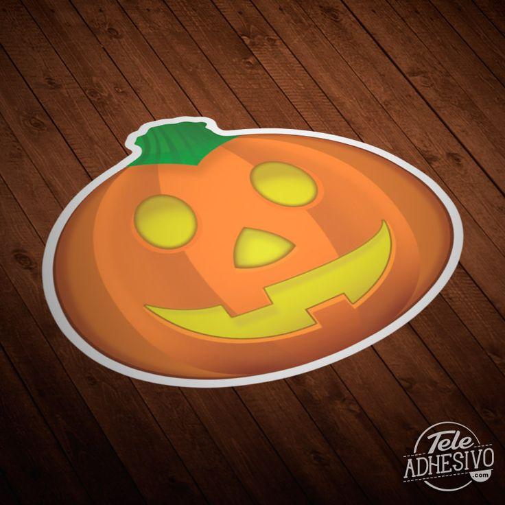Pegatinas: Calabaza de Halloween #vinilo #halloween #decoracion #pared #miedo #calabaza #terror #infantil #TeleAdhesivo