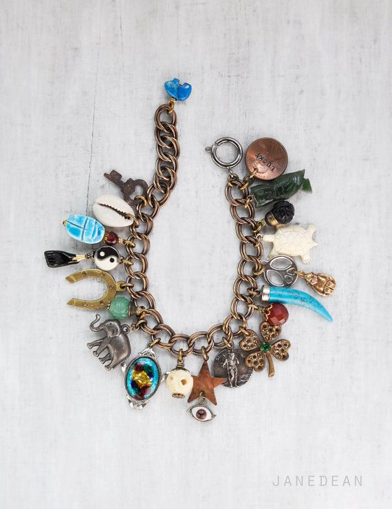 Lucky Talisman Charm Bracelet vintage good luck by janedean