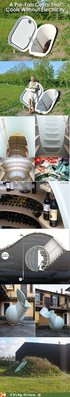 The Groundfridge Is A Pre-Fab Underground Cellar That Stays Cool Without Electricity - if it\'s hip, it\'s here