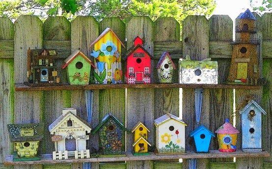Casa de passarinhos, arte e decoração