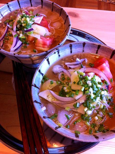 真砂喜之助製麺所さんの細口そうめんに、蒲さんとこの麦味噌で冷や汁。体が喜ぶ素麺発見! - 19件のもぐもぐ - ~冷や汁細口そうめん~ by rascal5963