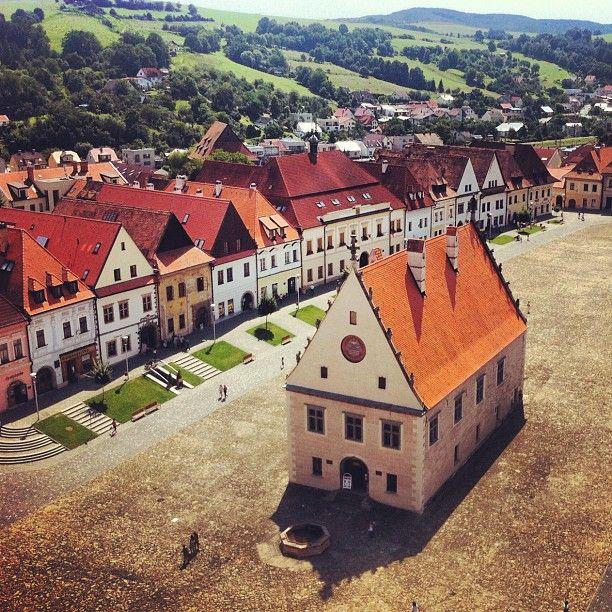 Bardejov ve městě Slovakia