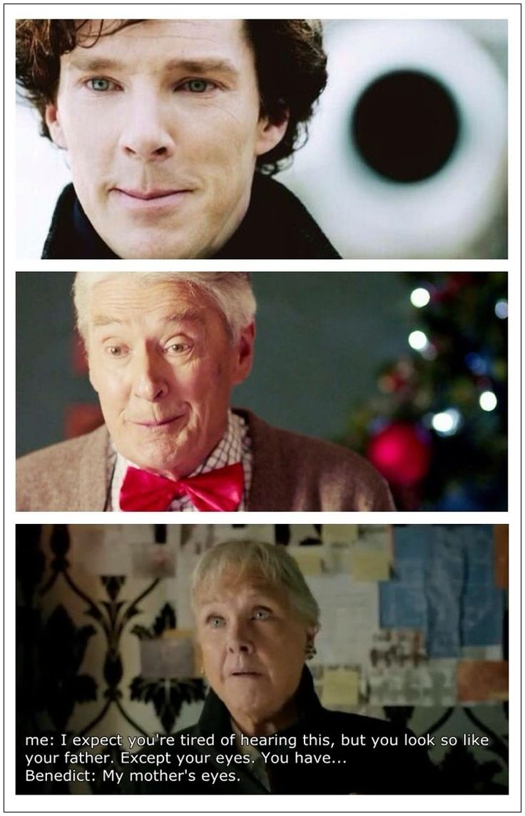 This is just too wonderful, that quote is just perfect!!! Cuz it's 100% true! Those are Benedict's real parents :) So yes... he does have his mother's eyes ;) (and his daddy's mouth)