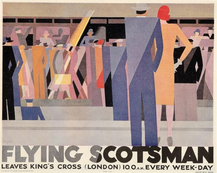 """Flying Scotsman"" poster by Leo Marfurt for the London & North Eastern Railway, 1928."