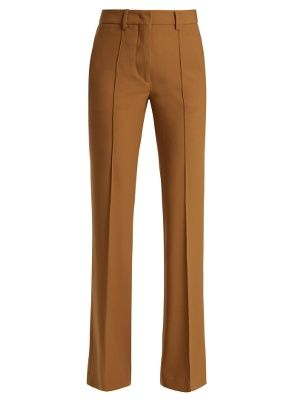 Etro's artistic sensibility translates into tailoring for Pre-AW17. These warm camel-brown Veronica trousers are crafted in Italy from lightweight wool-blend crepe with a touch of stretch for a flattering fit, and shaped to a 1970s-esque kick-flare silhouette. Style yours with eclectic accessories, from bold earrings to a tassel-embellished clutch.