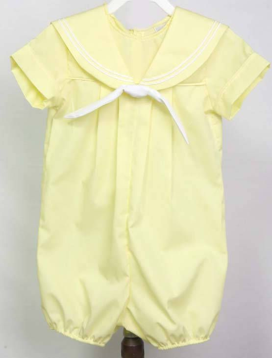 Baby clothes in a boys baby bubble is one cute baby boy Easter outfit clothing item from our kids. Our childrens shop offers childrens clothes and things for twin babies in many styles. Boys baby bubble is available in many colors but this one is shown in Yellow. Matching brother sister outfits are available.  We use 2 measurements so you can check to see what size you need. I suggest that you measure a garment that fits him or will fit him when you need him to wear it since we have a no…