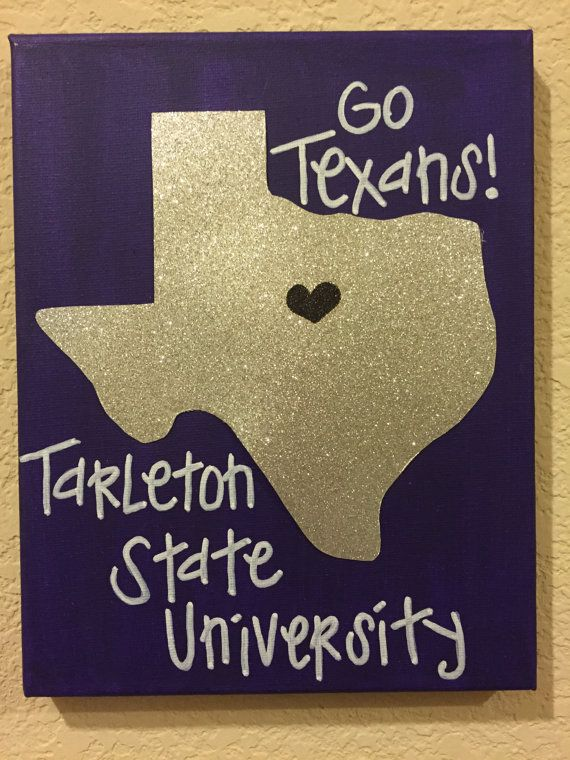 Tarleton State University canvas wall art by CanvasGlitterLady