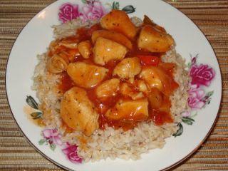 Pui cu sos chinezesc si orez brun, Rețetă Petitchef
