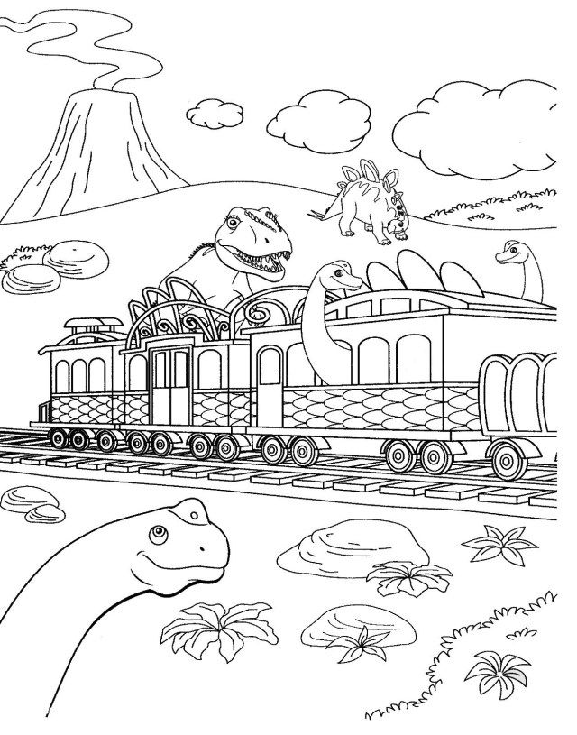 27 Brilliant Image Of Dinosaur Train Coloring Pages Train