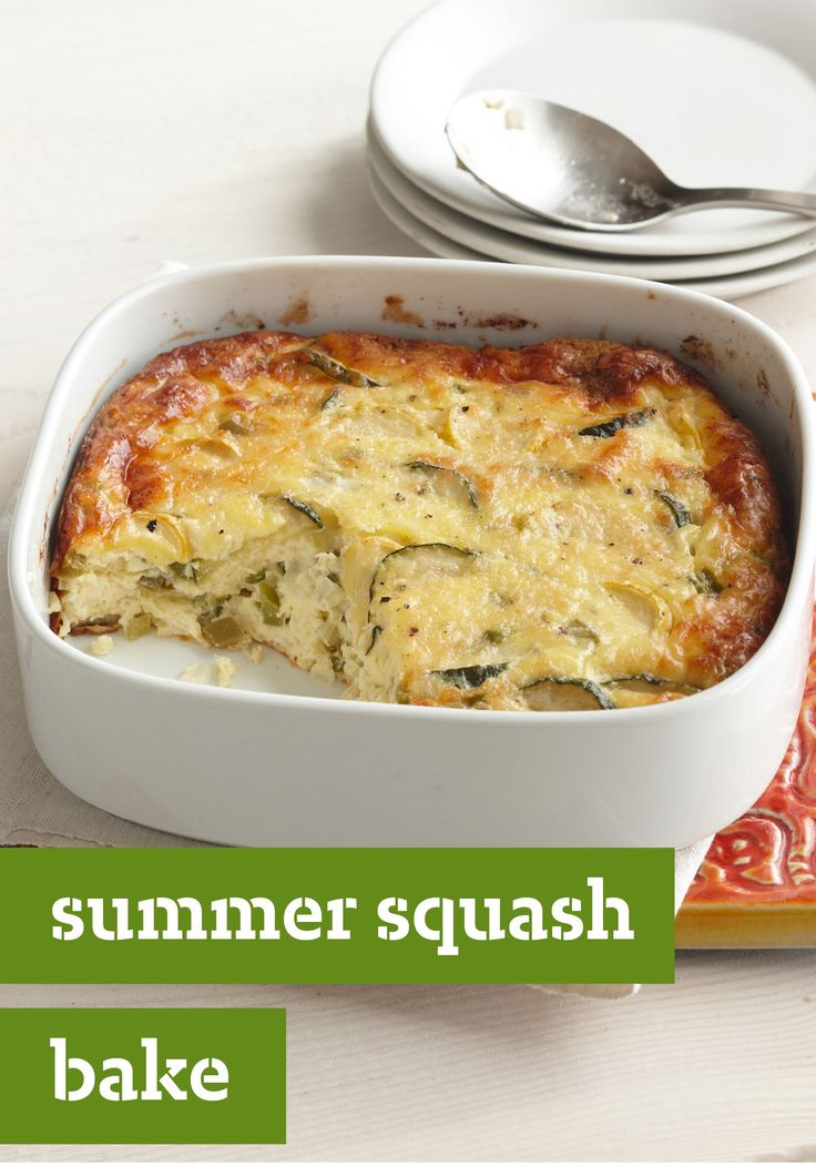 Summer Squash Bake – Fresh zucchini and yellow squash are the base of this cheesy, eggy, bake recipe. Plus, our step-by-step recipe makes prep a breeze—so you can get back to savoring your summer evening.