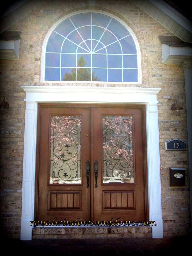 Charmant Double Entry Door With Wrought Iron Design The Unit Is