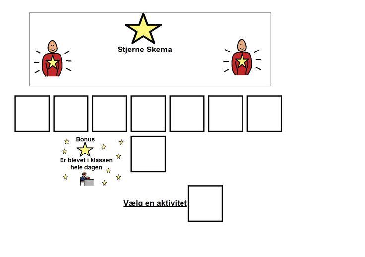 samle stjerner til belønning for at blive i undervisningen/klassen