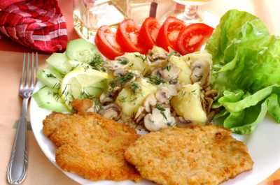 Kotlet schabowy (Polish Pork Chop) Dale had this in Krakow...