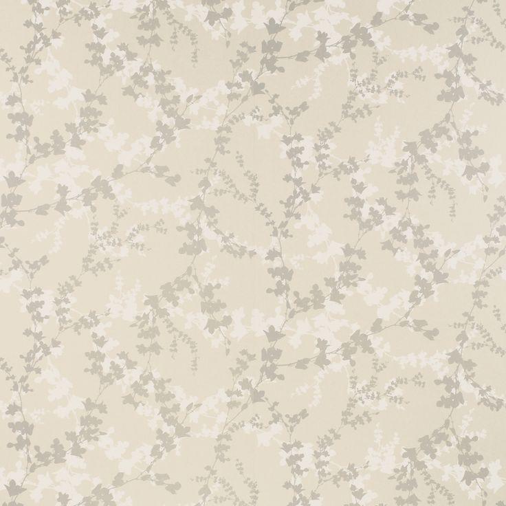 Hawthorn Leaf Pale Bamboo Wallpaper Laura Ashley
