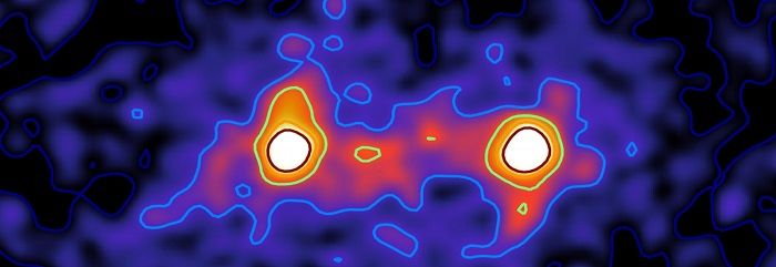 Researchers at the University of Waterloo have been able to capture the first composite image of a dark matter bridge that connects galaxies together. The composite image, which combines a number of individual images, confirms predictions that galaxies across the universe are tied together through a cosmic web connected by dark matter that has until …