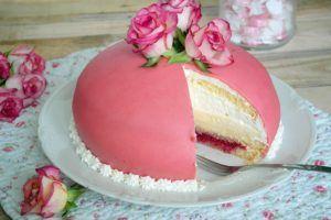 Rezept für eine rosa Prinzessinen Torte-schwedish Prinsesstarta-kooperation mit Kölln