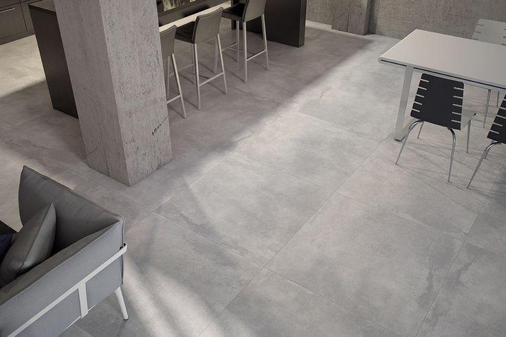 Pavimento tipo cemento in gres porcellanato formato 60x60 New concrete ...