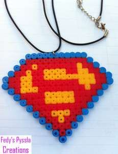 Perler Beads Superman | portachiav i pyssla hama beads superman 4 00 spedizione 3 00