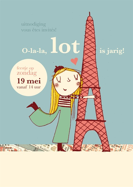 hutsepot: uitnodiging Parijs-feestje Lot