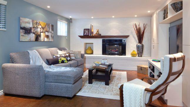 Un sous-sol élégant et moderne avec une toile signée Philippe Dagenais! | Les idées de ma maison