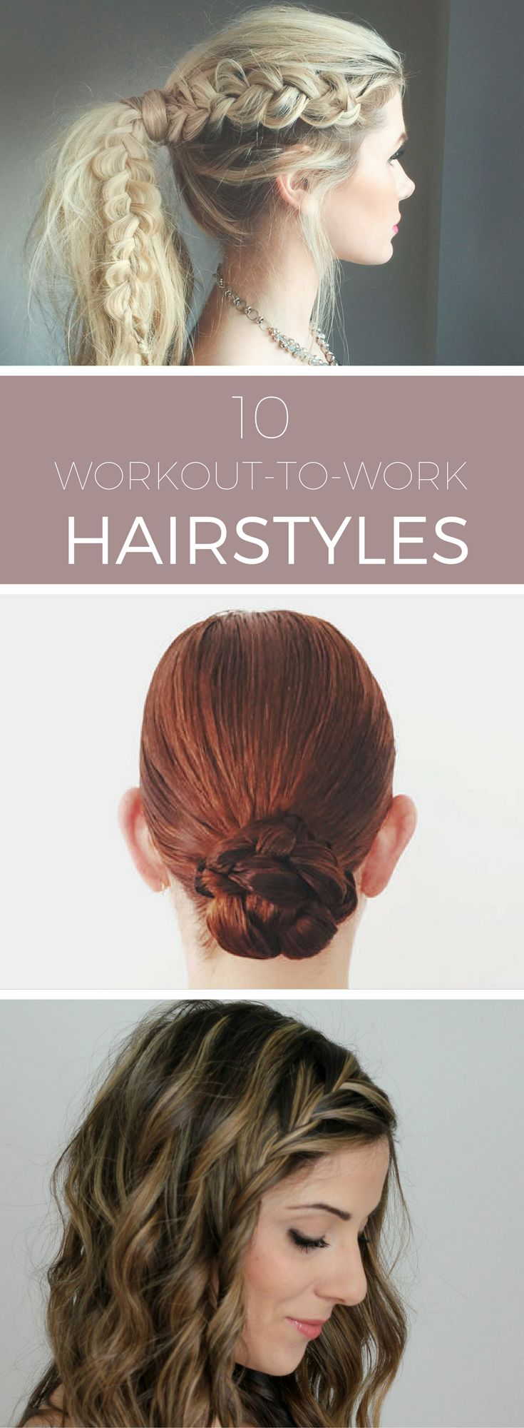 10 Workout-to-Work Hairstyles // No time between the gym and the office? No worries—these sleek looks will take you from barre class to the boardroom effortlessly! Get the looks at spryliving.com
